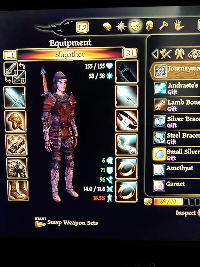 Dragon Age Origins Inventory Screen