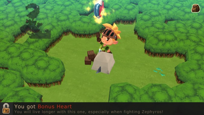 evoland bonus heart link zelda