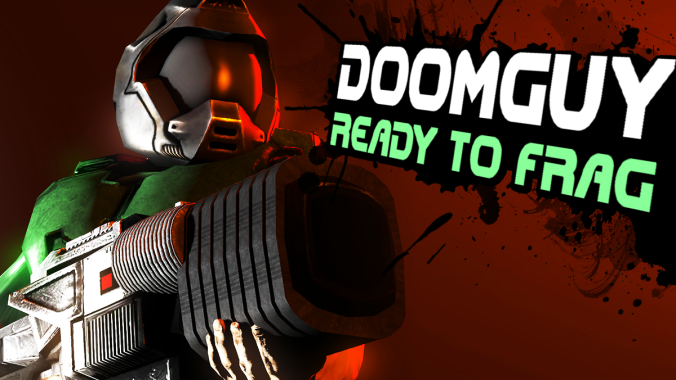 Doomguy super smash bros crossover