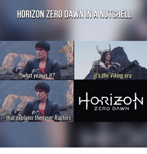 Horizon Zero Dawn In a Nutshell Drinking Game
