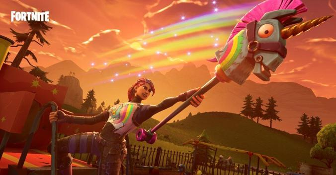 Fornite unicorn harvest tool rainbow