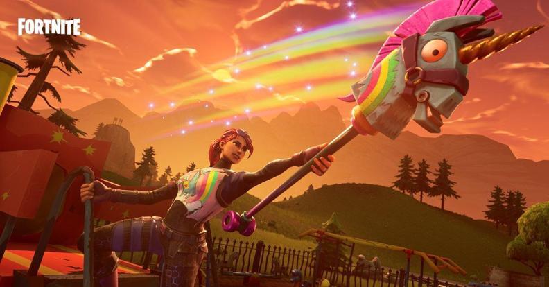Fornite unicorn harvest tool rainbow